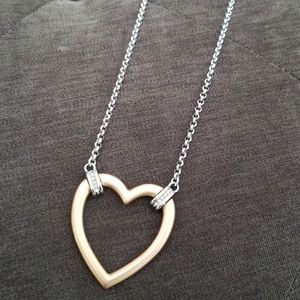 Brighton two toned heart necklace!